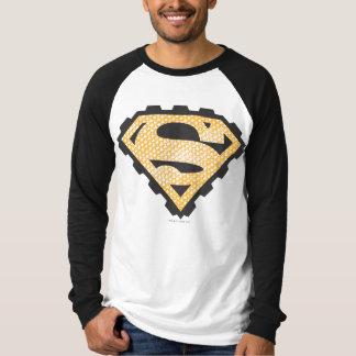 スーパーマンのS盾|タンのロゴ Tシャツ