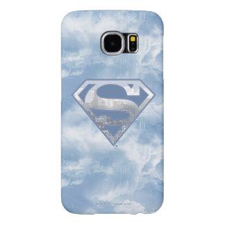 スーパーマンのS盾|淡いブルーの都市ロゴ SAMSUNG GALAXY S6 ケース