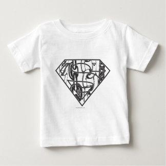 スーパーマンのS盾  Chainlinkのロゴ ベビーTシャツ