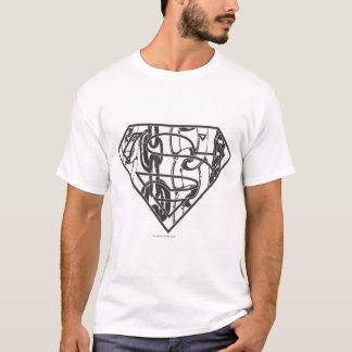 スーパーマンのS盾  Chainlinkのロゴ Tシャツ