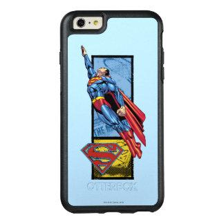 スーパーマンはロゴと跳びます オッターボックスiPhone 6/6S PLUSケース