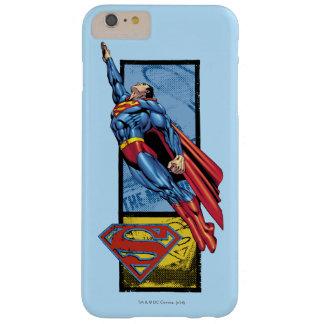 スーパーマンはロゴと跳びます スキニー iPhone 6 PLUS ケース