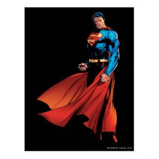スーパーマンは前部に見ます ポストカード