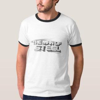 スーパーマンは鋼鉄スケッチのロゴの|の人を様式化しました Tシャツ
