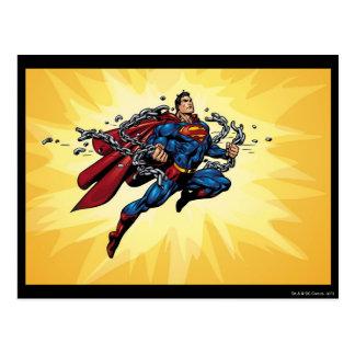 スーパーマンは鎖を壊します ポストカード