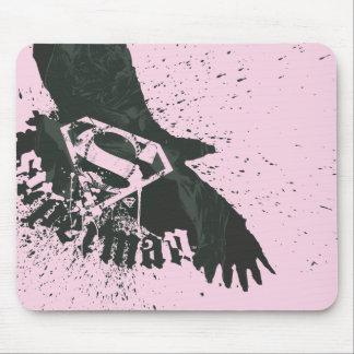 スーパーマンは鳥のロゴの|のピンクを様式化しました マウスパッド