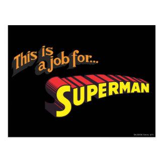 スーパーマンは|これです仕事のための… ロゴ 葉書き
