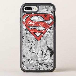 スーパーマンは|しわにされた喜劇的なロゴを様式化しました オッターボックスシンメトリーiPhone 8 PLUS/7 PLUSケース