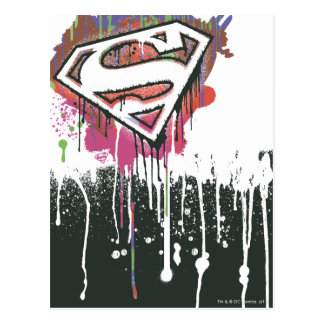 スーパーマンは ねじられた潔白のロゴを様式化しました ポストカード