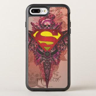 スーパーマンは|のグランジなデザインのロゴを様式化しました オッターボックスシンメトリーiPhone 8 PLUS/7 PLUSケース