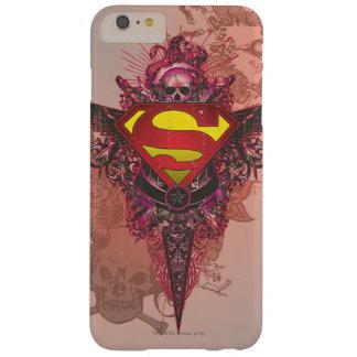 スーパーマンは|のグランジなデザインのロゴを様式化しました スキニー iPhone 6 PLUS ケース