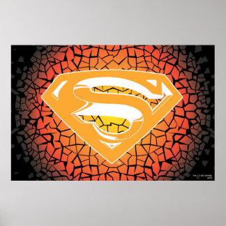 スーパーマンは|のパチパチ鳴る音のロゴを様式化しました プリント