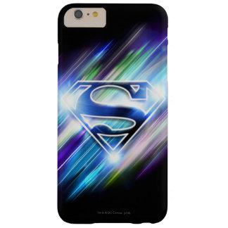スーパーマンは|の光沢がある青の破烈のロゴを様式化しました スリム iPhone 6 PLUS ケース