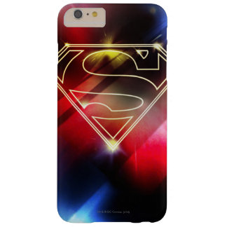 スーパーマンは|の光沢がある黄色い輪郭のロゴを様式化しました iPhone 6 PLUS ベアリーゼアケース