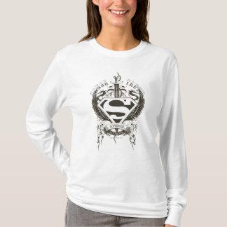 スーパーマンは|の名誉、白いロゴの真実を様式化しました Tシャツ