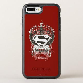 スーパーマンは|の名誉、白いロゴ2の真実を様式化しました オッターボックスシンメトリーiPhone 8 PLUS/7 PLUSケース