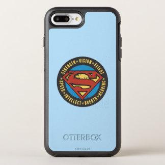 スーパーマンは|の強さの視野飛行ロゴを様式化しました オッターボックスシンメトリーiPhone 8 PLUS/7 PLUSケース