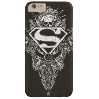 スーパーマンは の星およびスカルのロゴを様式化しました BARELY THERE iPhone 6 PLUS ケース