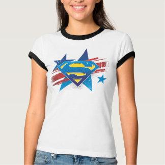 スーパーマンは|の星条旗のロゴを様式化しました Tシャツ