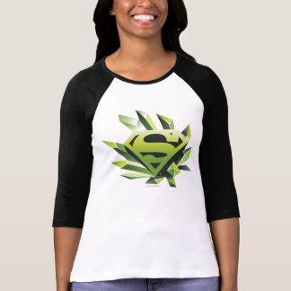 スーパーマンは|の緑の盾のロゴを様式化しました Tシャツ