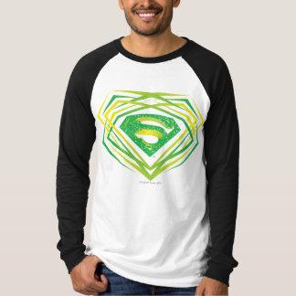 スーパーマンは|の緑の装飾的なロゴを様式化しました Tシャツ