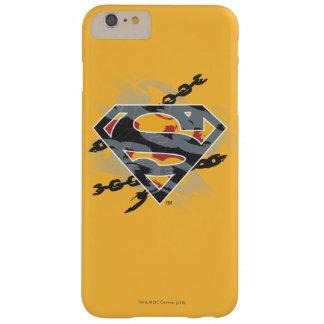 スーパーマンは|の鎖のロゴを様式化しました iPhone 6 PLUS ベアリーゼアケース