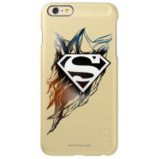 スーパーマンは の青いオレンジロゴを様式化しました INCIPIO FEATHER SHINE iPhone 6 PLUSケース