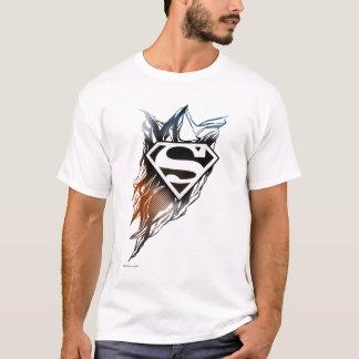 スーパーマンは|の青いオレンジロゴを様式化しました Tシャツ