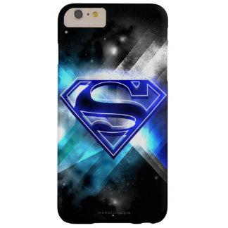 スーパーマンは|の青く白い水晶ロゴを様式化しました スキニー iPhone 6 PLUS ケース
