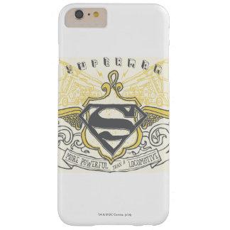 スーパーマンは の黄色によって描かれた列車のロゴを様式化しました スキニー iPhone 6 PLUS ケース
