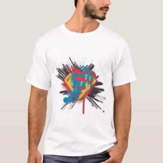 スーパーマンは|の(ばちゃばちゃ)跳ねるのロゴを様式化しました Tシャツ
