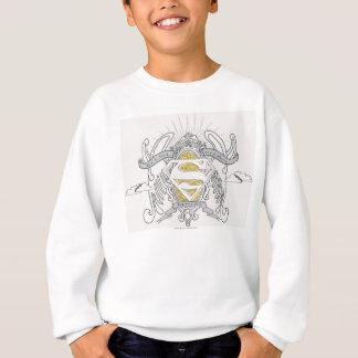 スーパーマンは|を鳥、平らなロゴ様式化しました スウェットシャツ