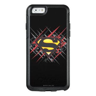 スーパーマンは を黒いおよび赤の殴打のロゴ様式化しました オッターボックスiPhone 6/6Sケース