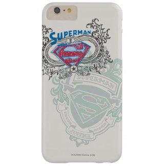 スーパーマンは|を2つの頂上のデザインのロゴ様式化しました スリム iPhone 6 PLUS ケース