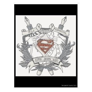 スーパーマンは 温厚なレポーターのロゴを様式化しました ポストカード