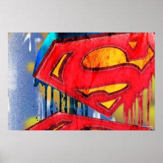 スーパーマンは|都市Spraypaintのロゴを様式化しました ポスター