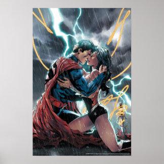 スーパーマンまたはワンダーウーマンの喜劇的な昇進の芸術 ポスター