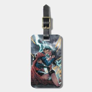 スーパーマンまたはワンダーウーマンの喜劇的な昇進の芸術 ラゲッジタグ
