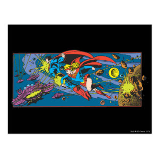 スーパーマン及びSupergirlの飛行 ポストカード