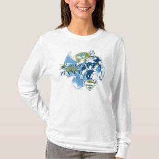 スーパーマン惑星を守る| Tシャツ