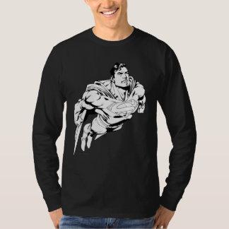 スーパーマン白黒1 Tシャツ