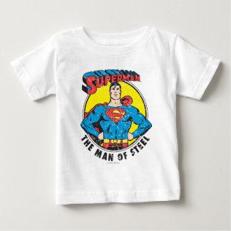 スーパーマン鋼鉄の人 ベビーTシャツ