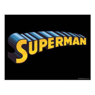 スーパーマン のクラシックな一流のロゴ ポストカード