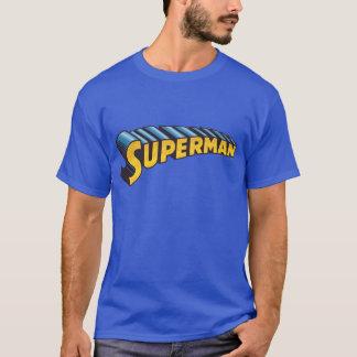 スーパーマン|のクラシックな一流のロゴ Tシャツ
