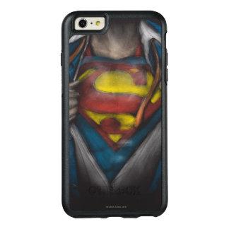スーパーマン の箱はスケッチColorizedを明らかにします オッターボックスiPhone 6/6s Plusケース