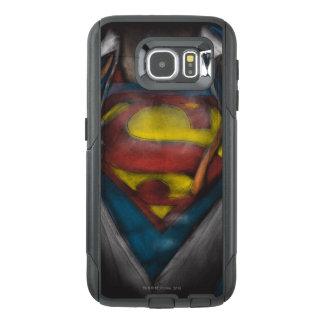 スーパーマン|の箱はスケッチColorizedを明らかにします オッターボックスSamsung Galaxy S6ケース