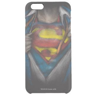 スーパーマン の箱はスケッチColorizedを明らかにします クリア iPhone 6 Plusケース