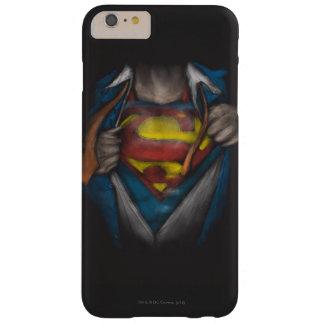スーパーマン|の箱はスケッチColorizedを明らかにします iPhone 6 Plus ベアリーゼアケース
