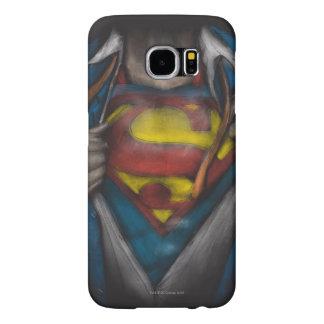 スーパーマン|の箱はスケッチColorizedを明らかにします Samsung Galaxy S6 ケース