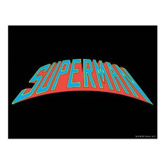 スーパーマン|の紫系統の手紙のロゴ ポストカード
